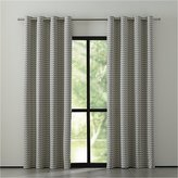 Crate & Barrel Reilly Grey Chevron Curtains