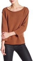 Eileen Fisher Boatneck Crop Wool Blend Sweater