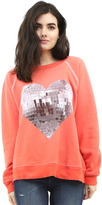 Wildfox Couture My Disco Heart Sommer's Sweatshirt in Electric Red