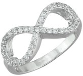 Silver Plated Cubic Zirconia Infinity Band Ring - Size 7