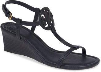 Tory Burch Miller Leather Wedge Sandal