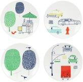 Kate Spade Hopscotch Drive About Town 4piece Tidbit Plate Set