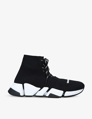 Balenciaga Speed 2.0 stretch-knit mid-top trainers