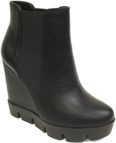 Bamboo Black Invent Wedge Boot
