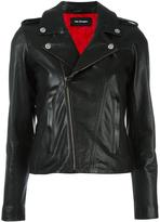 The Kooples biker jacket - women - Lamb Skin/Polyester/Spandex/Elastane/Acetate - XS
