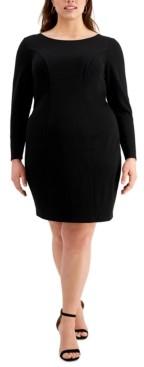 Emerald Sundae Trendy Plus Size Long-Sleeve Cross-Back Dress