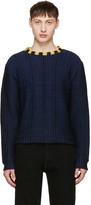 Eckhaus Latta Navy Wiggly Road Sweater