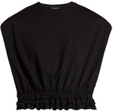 Simone Rocha Broderie-anglaise trimmed cotton-jersey T-shirt