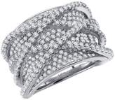 Lafonn Pave Glam Sterling Silver Platinum Plated Lassire Simulated Diamond Ring (3.94 CTTW)
