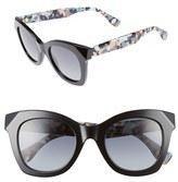 Fendi Women's 48Mm Chromia Retro Sunglasses - Black