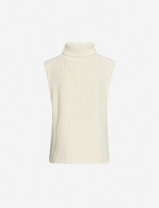 Etoile Isabel Marant Megan turtleneck sleeveless cotton-blend knitted top