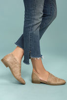 Qupid Karmen Taupe D'Orsay Pointed Toe Booties