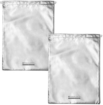 Mytagalongs Odyssey Set Of 2 Drawstring Bags - Silver
