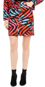 Escada Printed Denim Skirt