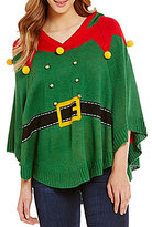 So It Is Christmas Elf Hooded Poncho