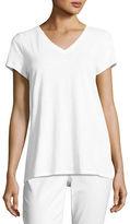 Eileen Fisher Short-Sleeve V-Neck Jersey Tee