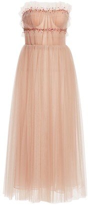 Jason Wu Collection Strapless Embellished Tulle Cocktail Dress