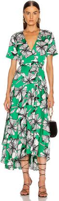 Alexis Deanna Dress in Emerald Floral | FWRD