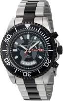 Akribos XXIV AK955TTB Men's Swiss Quartz Stainless Steel Automatic Watch, Two Tone