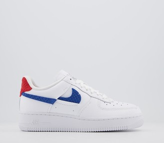 Nike Force 1 07 Trainers White Red Blue Lxx