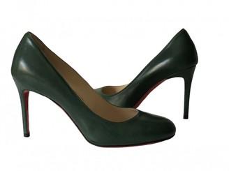 Christian Louboutin Fifi Green Leather Heels