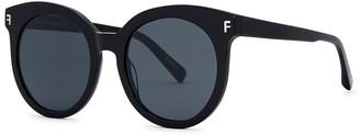 FOR ART'S SAKE Front Row Black Oversized Sunglasses