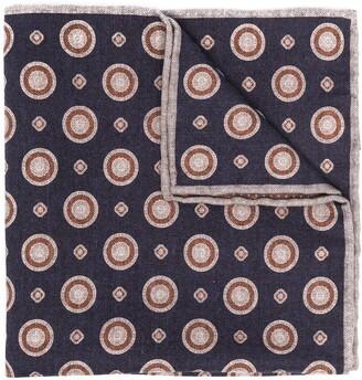 Eleventy Polka-Dot Print Pocket Square