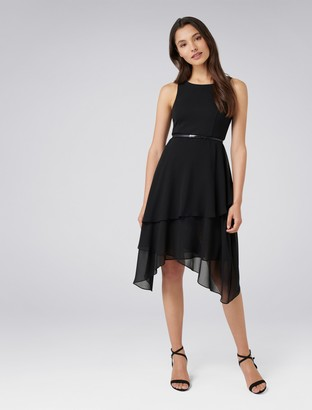 Forever New Lauren Petite Two-in-One Tiered Maxi Dress - Black - 10