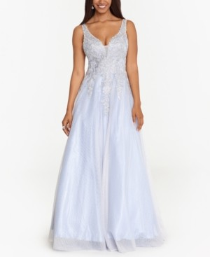 Xscape Evenings Embellished Applique Ball Gown