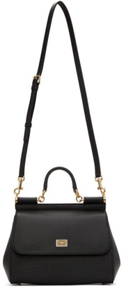 Dolce & Gabbana Black Medium Sicily 58 Bag