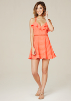 Bebe Ruffled Cross Back Dress