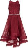 Xtraordinary Big Girls 7-16 Embellished-Waist Horsehair-Hem Dress