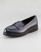Prada Spazzolato Navy Loafer