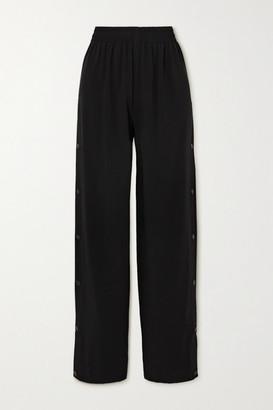 Balenciaga Crepe Track Pants - Black