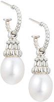 Lagos Luna Hoop Pearl Drop Earrings, 10mm