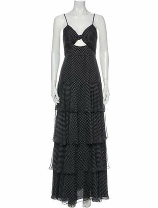 Jill by Jill Stuart Polka Dot Print Long Dress w/ Tags Black