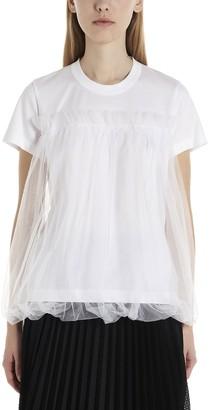 Noir Kei Ninomiya Tulle Overlay T-Shirt