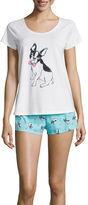 SLEEP RIOT Sleep Riot 2-pc. Short-Sleeve Shirt and Shorts Pajama Set
