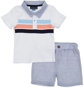 Andy & Evan Pique Polo & Shorts Set