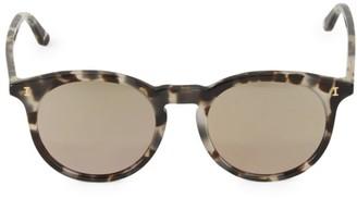 Illesteva 52MM Sterling II Tortoise Round Sunglasses