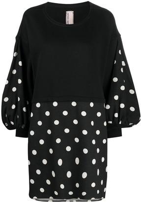 Antonio Marras Polka Dot-Print Sweater Dress