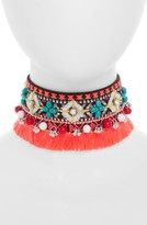 Topshop Women's Beaded Tassel Choker