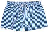 River Island MensBlue stripe slim fit swim trunks