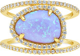 Thumbnail for your product : Sterling Forever 14K Over Silver Cz Ring