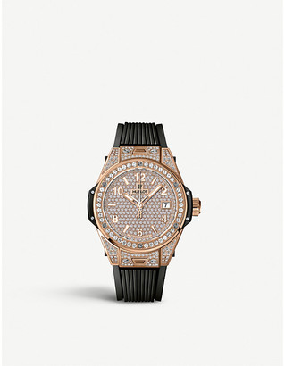 Hublot 465.OX.9010.RX.1604 Big Bang One Click diamond, 18ct gold and rubber watch