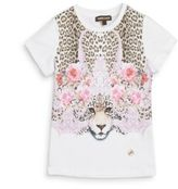 Roberto Cavalli Girl's Floral & Leopard Graphic Tee