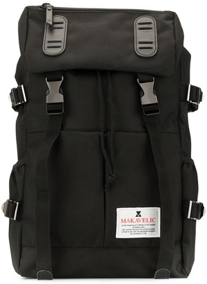 Makavelic Double Belt logo backpack
