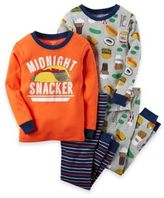 "Carter's 4-Piece ""Midnight Snacker"" Pajama Set"