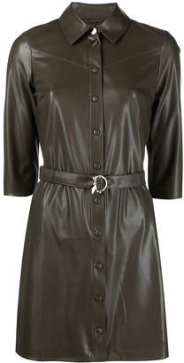 Patrizia Pepe Faux Leather Shirt Dress