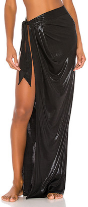Normaillot Black Pearl Long Wrap Skirt